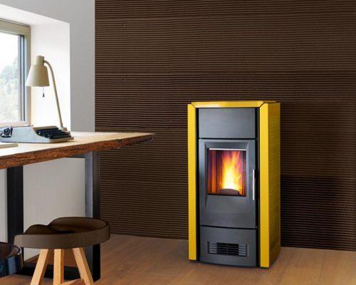 design pelletkachel, energiezuinig stoken op houtpellets